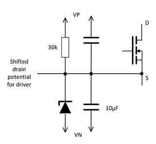 Figure 3: Efficient potential shift to adjust gate voltage