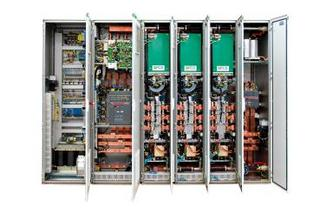Switchboard cabinet with MW-inverter (Source PCS)