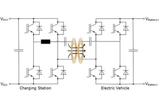 Fig. 5: Basic circuit diagram of power transmission with wireless charging