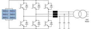Basic circuit diagram of a single-stage BESS