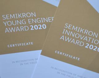 SEMIKRON Foundation and ECPE honour a team from Finland with the Innovation Award 2020 while this year's Young Engineer Award goes to Johannes Büdel.