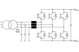 Fig. 3: AFE mains rectifier